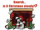 keywords: goofy christmas gawrsh gorsh presents chimney santa